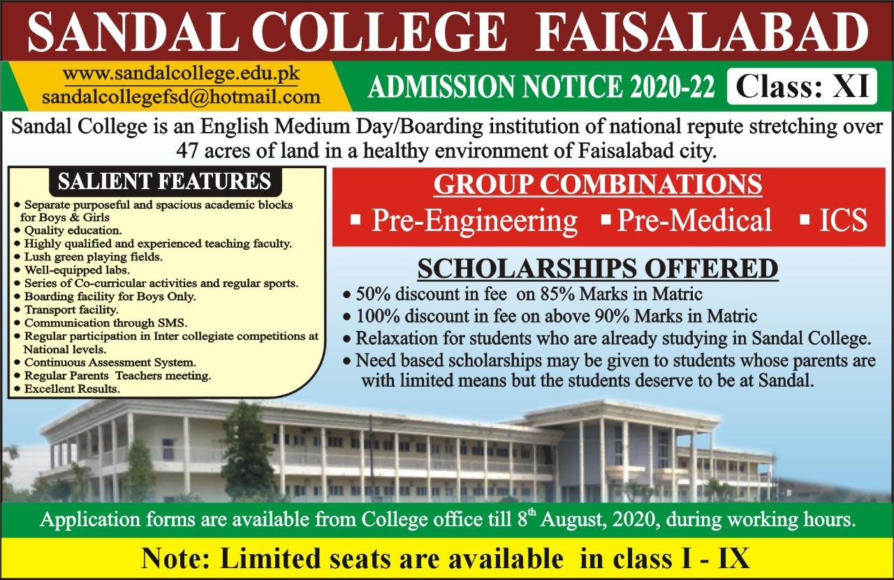 ADMISSION NOTICE             2020-22 (Class : XI)